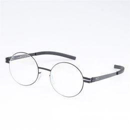 3a2c60c6654 Stainless Steel Retro Round Glasses Frame for Men and Women Optical  Prescription Eyeglasses with Clear Lens oculos de grau