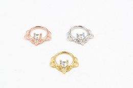 Labret Lip Piercing Jewelry UK - 50pcs Body Jewelry Piercing - SHINE CZ Gems Ear Helix Bar Lip Rings Bend Nose Septum Ring Cartilage Nose Hoop Rings NEW