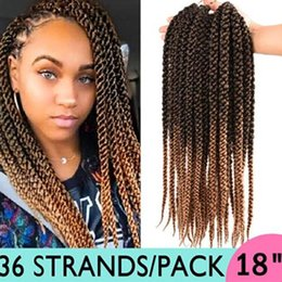 $enCountryForm.capitalKeyWord Australia - Hot Selling! 1Pcs 3D Cubic Twist Crochet Braiding Hair 18inch Long Ombre Kanekalon Fiber Braids Hair Extensions For Women 12Roots pack