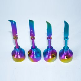 $enCountryForm.capitalKeyWord Australia - Rainbow GR2 Titanium Nail Titanium Dab Tool with wax Carb Cap Dabber with Titanium Sword dabber