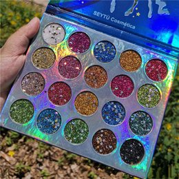 Eight Hair Australia - Ins Super fire 20 color sequins eye shadow high light flash powder easy color beauty makeup eye shadow disk instant hair