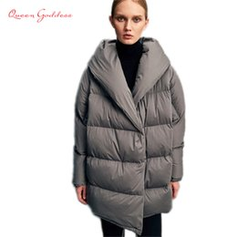 elegant down parka Australia - Parka New Brand European Style warm parkas Large Size womens Down Jackets Female Elegant and vintage White Duck Down Coat