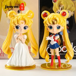 sailor moon action NZ - Sailor Moon Tsukino Usagi Wedding Dress Sailor Suit Figure Anime Periphery Action Figure Cartoon Doll Cake Decoration jooyoo