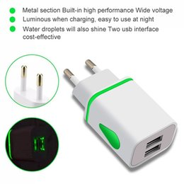 Mobile Power Cell Phone Australia - 60PC lot Dual USB Cell Mobile Phone Charger 5V2.1A 1A EU US Plug Wall Power Adapter for iPhone for Samsung for HTC Cell Phones 2Ports