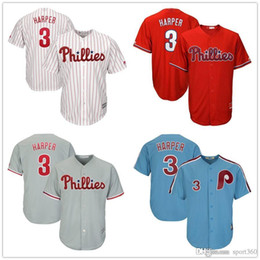 e4ec4c12f87df Men s Philadelphia Phillies 34 Bryce Harper Jersey Embroidery Majestic  White Scarlet Official Cool Base Player Jerseys