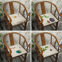 green office chairs NZ - Chinese Cotton Linen Sofa Chair Seat Cushions Mat Ethnic Dining Chair Armchair Seat Pads Home Office Zippered Cushion Seats