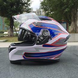 Dual Lens Half Helmet Australia - High-quality ABS resin motorcycle full face helmet, stylish dual-lens racing helmet,Capacete De Moto0001