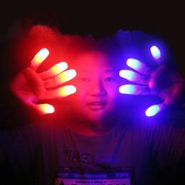 $enCountryForm.capitalKeyWord Australia - ight-Up Toys 10pcs lot Novelty Gadgets Funny Toys Thumb Light Halloween Concert Party LED Flashing Fingers Props Glow In Dark Luminous G...