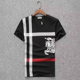 Wholesale new mens clothing for sale – custom 2019 new designer t shirt Europe Paris Embroidery Contrast patchwork Tshirt Fashion Mens Designer T Shirt Casual Men Clothes Cotton Tee