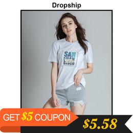 $enCountryForm.capitalKeyWord NZ - Dropship T Shirt 9 Style Tshirt Women Graphic Tees Streetwear Tops 2019 Shirts Modis Top Womens Tops Losse Summer Short Sleeves J190427