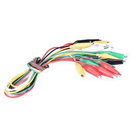AlligAtor cAbles online shopping - New Double ended Crocodile Clips Cable Alligator Clip Test Cable Leads Clips Wire Electrical Testing Wires Probe