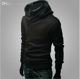 Wholesale assassins creed hoodies free shipping for sale – custom Autumn Winter Men Brand Fashion Casual Slim Cardigan Assassin Creed Hoodies Sweatshirt Outerwear Jackets