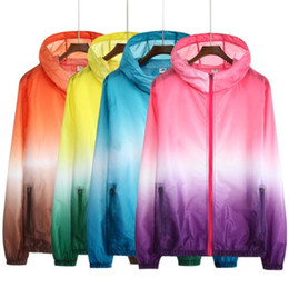 windbreaker jacket removable liner Australia - Ultra-thin Summer Sunscreen Coat Jacket Unisex Windbreaker Waterproof Thin Hooded Zipper Quick Drying Puls size Anti - UV jacket