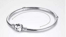 $enCountryForm.capitalKeyWord Australia - 2018 PAN 3mm 16-23cm 925 Silver Plated Bracelet Chain with Barrel Clasp Fit European Beads Pan Bracelet wholesale Snake Chain