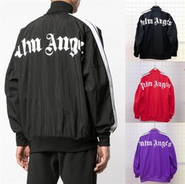 Wholesale black sweat outfit for sale - Group buy Newest palm angels designer tracksuit designer sport jacket Two Piece Outfits men designer jacket sports coat sweat suits couples size S XL