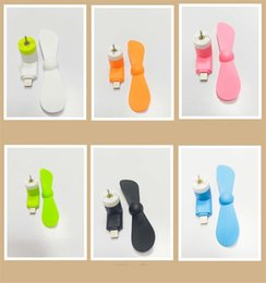 Fans giFts online shopping - Creative Mobile Phone Small Fan Silicone Usb Portable Mini Fans Electronic Toy Fit Outdoors Traveling Gifts yc E1