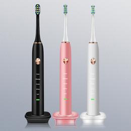 $enCountryForm.capitalKeyWord Australia - Ultrasonic electric toothbrush induction charging vibration soft hair smart charging electric toothbrush black white pink DHL sz146