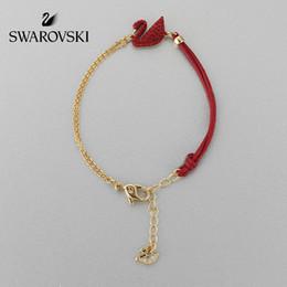 SwarovSki croSSeS online shopping - Swarovski ICONIC SWAN Red Swan Fashion Elegant Female Bracelet