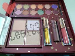 Großhandel 2018 neueste Kylie Make-up Sets Jordyn Wife Leben Make-up Set Textmarker Lidschatten Lipgloss matt Lippenstift Kosmetik Kit