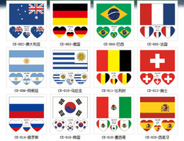 Wholesale 10 National Flag Map Easter Stickers For PVC Waterproof Skateboard Suitcase Motorcycle Guitar DIY Decals Bomb Sticker