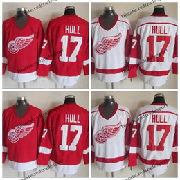detroit red wing jerseys 2020 - Mens Detroit Red Wings #17 Brett Hull Jersey Vintage Home Red White Brett Hull Stitched Hockey Jerseys Cheap M-XXXL chea