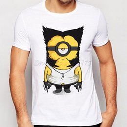 minion shorts NZ - 2019 New Arrivals Funny Wolve Minions Design T shirt Hipster Tops customize Printed Short Sleeve Tees