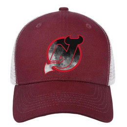 $enCountryForm.capitalKeyWord Australia - New Jersey Devils red Distressed series mens Sport baseball hat printed adjustable women's fishing cap funky snapback cap mesh basketball h