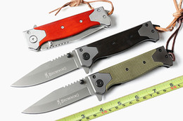 "wholesale edc gear UK - Browning B60 Folding blade Pocket knives 5CR15MOV Blade Wooden handle 8.6"" Assisted Tactical Camping Hunting Survival Knife Outdoor Gear"