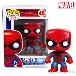Amazing Spider Man Figures Australia - Cute present Funko Pop Marvel The Amazing Spiderman 2 Spider-man Vinly Action Figure #45 in Box Gift Toy Doll