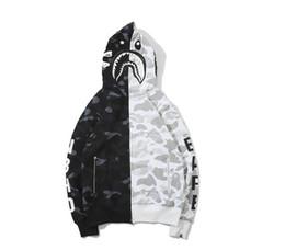 $enCountryForm.capitalKeyWord Australia - Europe America Fashion Autumn Winter Designer Hoodie Camouflage print skateboard Harajuku streetwear men and women hip hop shark hoodie