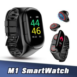 Wholesale M1 AI Smart Watch with Heart Rate Monitor Smart Wristband Strong Standby Sport Watch Bracelet Men With A TWS Bluetooth Headset