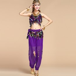 Female Indian Costumes Australia - Indian dance costume adult female new bronze gongs belly dance performance dress Tianzhu performance clothing high-end sari suit annual meet