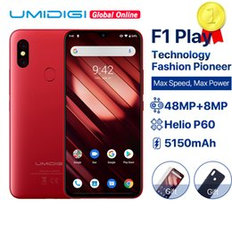 "octa core rockchip NZ - UMIDIGI F1 Play Android 9.0 6GB RAM 64GB ROM 48MP+8MP+16MP Cameras 5150mAh 6.3"" FHD+ Helio P60 Global Version Smartphone Dual 4G"