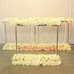 Wholesale mental stand only gold silver metal candle holder wedding table centerpiece flower vase rack home and hotel road lead decoration decor670
