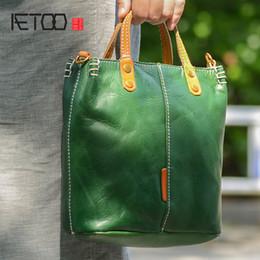English pockEts online shopping - AETOO Handmade leather handbag simple leather one shoulder slanted bag female vintage English wind briefcase