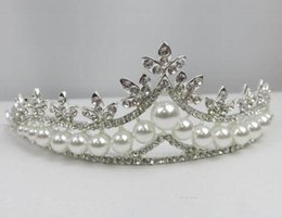 pearl bride UK - Bride Headwear Fashion Wedding Dress Accessories Alloy Pearl Hair Corona