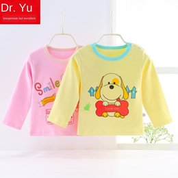 line baby girls t shirt Canada - 4FRvw autumn coat base shirt long-sleeved Top clothing children's coat clothes men's T-shirt tops children's and girls' baby pure cotton cl