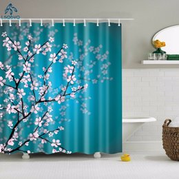 shower curtains flowers Canada - Floral Bamboo Dandelion Maple Leaf Flower Fabric Waterproof Polyester Shower Curtains Bathroom Curtain Bath Accessory Printing Y200108