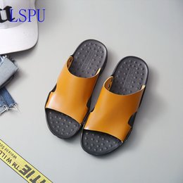 37be4c92d309c3 2019 Summer Men Flip Flop Beach Mens Slippers Casual Office Top Quality  Leather Male Footwear Sea Water Shoes Big Size