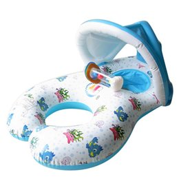 Pop Chair Australia - Summer Swimming Pool Accessories Pop Safe Inflatable Mother Baby Children Kids Swim Float Raft Kid's Chair Seat Play Ring Pool