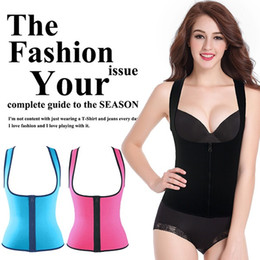 corsets suits NZ - New Zipper Women Sweat Enhancing Waist Training Corset Waist Trainer Sauna Suit Hot Shaper Sport Vest Slim_Dream,S-XXXL