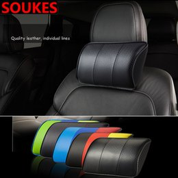 $enCountryForm.capitalKeyWord NZ - 1pcs Car Seat Headrest Travel Rest Neck Pillow For E46 E39 X5 E53 X6 Mini Cooper A4 B6 B8 A5 Fiesta Kuga