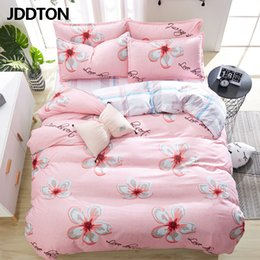 Discount beautiful bedding sets - JDDTON Home Textile Beautiful Flower Bedding Sets New Lovely Bed Linen Duvet Cover Set AB Side Bed Sheet Pillowcase Cove