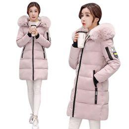 Fur coat wadded online shopping - Winter Women Clothing Wadded Keep Warm Coat Long Jacket Female Cotton Padded Coats Women Parkas Overcoat Plus Size xl