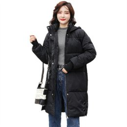 Chinese  New Winter For Women Ladies Loose Cotton Younger Rabbit Ear Hat Long Down Jacket Casual Cotton Parks For Women Long Warm Coat manufacturers