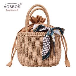 $enCountryForm.capitalKeyWord Australia - Aosbos Women Straw Handbag Summer Beach Tote Bag Rattan Woven Handmade Knitted Bag Ladies Leather Messenger for Female