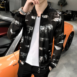 1e926e4fa55 Hot Sale Summer Bomber Jacket Streetwear Print Sun Protection Clothing Slim  Fit Long Sleeve Men Jacket Plus Size Windbreaker 5XL