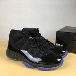 Los hombres más calientes 11 Noche de graduación Blackout Triple Entrenador atlético negro zapatos casuales 11 s suela de cuero translúcido Zapatillas deportivas para hombre en venta