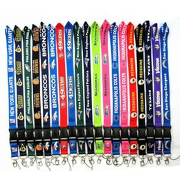 Wholesale Rugby Team Cell Phone Straps Charms For Dallas Cowboy Sling Lanyard Key Chains Webbing Card Work Lifting Rope Hanging Ornaments Style DHL