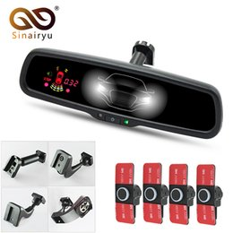 $enCountryForm.capitalKeyWord UK - Sinairyu new automatic dimming car interior rearview mirror monitor 4PCS parking sensor with original bracket 16mm flat sensor
